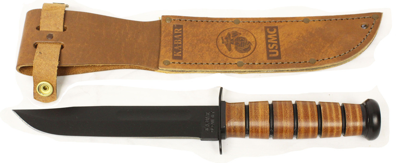 Ka-Bar Full Size US Marine Corps Fighting Knife, Straight