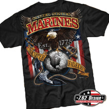 Marines Fighting Eagle Shirt by 7point62