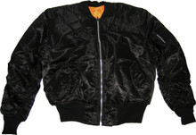 Black Flight Jacket MA-1