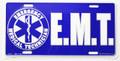 EMT License Plate