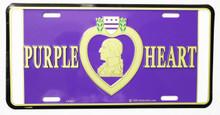 Purple Heart License Plate