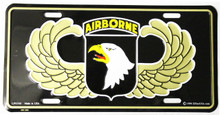 101st Airborne License Plate