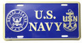 US Navy License Plate