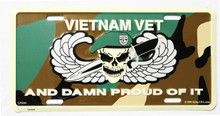 Vietnam Veteran and Proud License Plate
