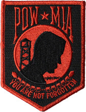 Red and Black POW MIA Patch