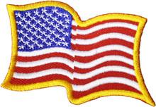 Wavy USA Flag Patch