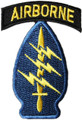 Special Forces Patch with Airborne Tab