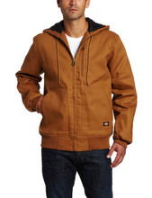 Dickies Brown Rigid Duck Hooded Jacket