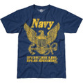 Vintage Navy T-Shirt by 762 Design