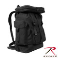 Canvas European Style Rucksack Black