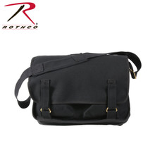 Black Canvas European School Bag