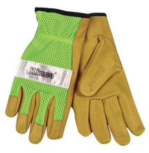 Kinco Safety Green Mesh Back Pigskin Leather Driver Glove