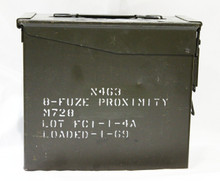 50 Cal Tall Fuze Box Ammo Can Side View