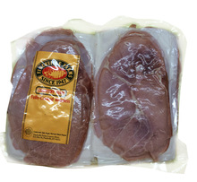 1/2 Fully Cooked, Boneless Country Ham This country ham has been cooked and thinly sliced for your convenience.  A wax meat board is placed between each slice and the ham is vacuum-sealed for freshness.  This delicious ham is perfect for parties and gifts.