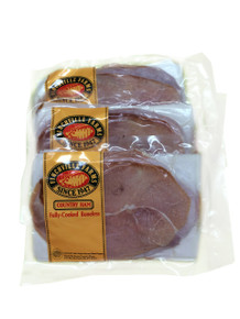 Small Packages of Cooked and Sliced Country Ham  For smaller families and just a little taste of ham, try these convenient 1 lb. packages of ham.  The ham is thinly sliced and each package has approximately 10 slices each.