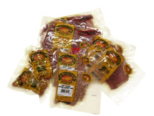 Country Ham Sampler The sampler contains two packages each • Old-Fashioned sliced country ham • Biscuit sliced country ham • Country ham pieces for soups • Ground country ham for salad 1 Box (2 packages of each)