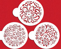 Easy to use stencil on buttercream and fondant cakes.  May also be used on royal iced cookies once they have dried.