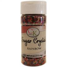 Rainbow Sugar Crystals 4oz