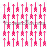"Arrows stencil. Overall size approximately 5.5"" x 5.5"". PINK sections in image are the open sections. Stencils are 5mil Food Grade plastic, washable and reusable."