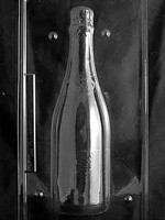 2 Piece mold used to create a life size chocolate Champagne Bottle.