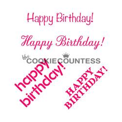 Happy Birthday 3 ways