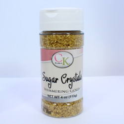 Gold Pearl Sugar Crystal  4 oz