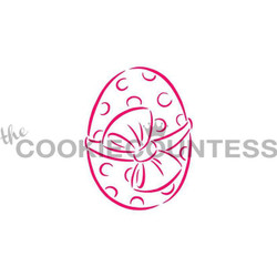 "Designed by the talented Drawn with Character - Easter Egg stencil.  Design size is 2.25"" x 2.85""  Use as a Paint your Own stencil, or as it's own design!  Overall stencil size is approximately 5.5"" x 5.5"". PINK sections in image are the open sections. Stencils are 5mil Food Grade plastic, washable and reusable."