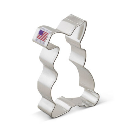 """Here comes Peter Cottontail, hoppin' down the bunny trail! Try our 3 3/4"""" Floppy Bunny Cookie Cutter for your Easter preparations or any time you want a springtime pick-me-up. This is one bunny you won't have to feed. Size: 3 3/4"""""""