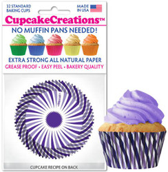Purple Swirls Standard  32pc