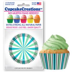 Mint & Turquoise Stripes 32pc