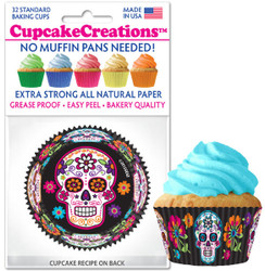 Sugar Skull Pink & Black Standard 32pc