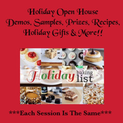 Holiday Open House   (Session 3)    1:00      11/14
