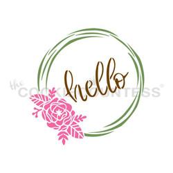 Hello Flowers Wreath 3 Piece
