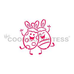 Happy Easter Eggs w/ Bunny Ears