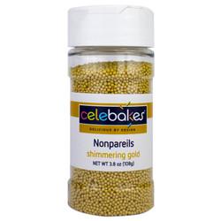 Shimmering Gold Nonpareils