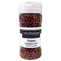 Bordeaux Dragees 5MM Red