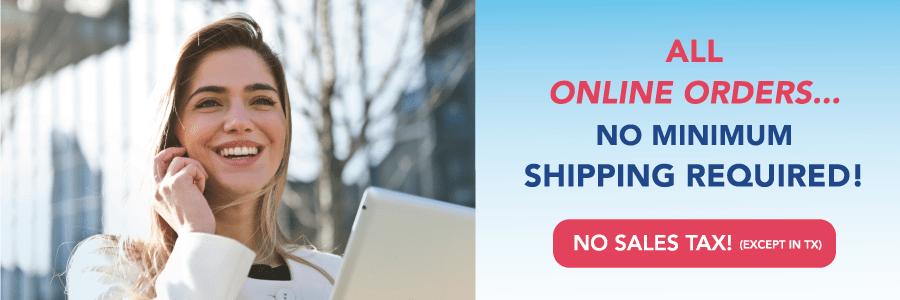 Free & Fast Shipping...No Minimum Order