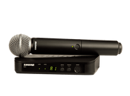 Shure BLX UHF Wireless Mic System - SM58 Handheld Vocal Performance Mic with BLX4 Receiver