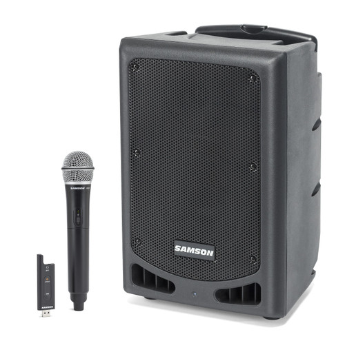 Samson Expedition XP208w 200-Watt Portable Powered PA with XPD2 Wireless Handheld Microphone, Rechargeable Batteries and Bluetooth®
