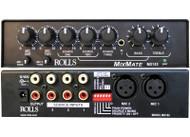 Rolls MX153 Half-Rack 5-Channel Mixer - Front & Rear View