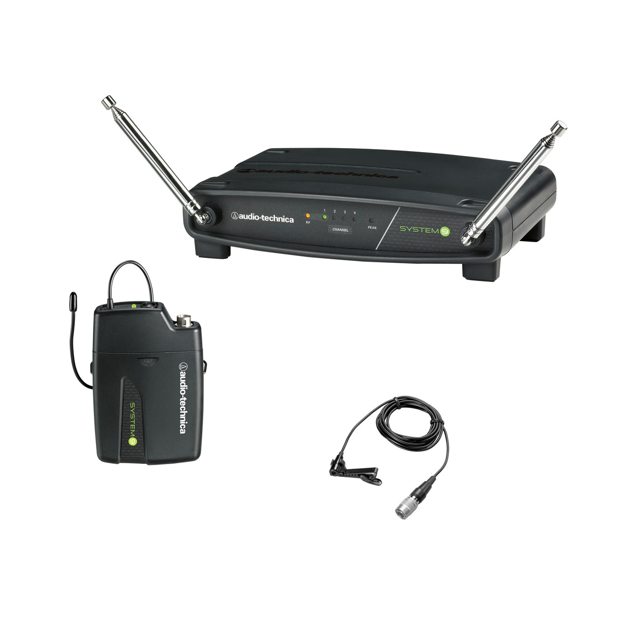 Audio-Technica ATW-901A/L SYSTEM 9 VHF 4-Channel Switchable System with  Omnidirectional Lavalier Mic