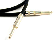 """Microphone/Line Unbalanced 1/4"""" - 1/4"""" TS Monaural Interconnect Cable - Black or Chrome Plugs  3-PAK"""