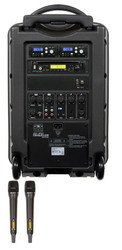 Galaxy Audio GAL10HH2CD TV10 AC/Battery-Powered 150 Watt Portable Sound System - Basic System + CD + 2 Handheld System