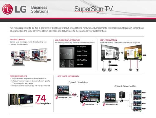 LG SuperSign Digital Displays with Editor