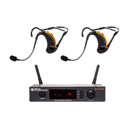 Special Projects SP-2EVO-25-D1 - Evo True Wireless System;  2 x SP-EVO-D1 Combo Headsets, 1 x 16-channel SP-25R Scan16 receiver, battery charger and mounting hardware
