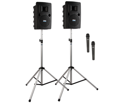 Anchor Audio Liberty LIB-DP2-AIR Portable Bluetooth Sound System - Includes: LIB2-XU2, LIB2-AIR, 2 SS-550, and choice of 2 wireless handheld mics and/or headband and lapel mics with beltpacks
