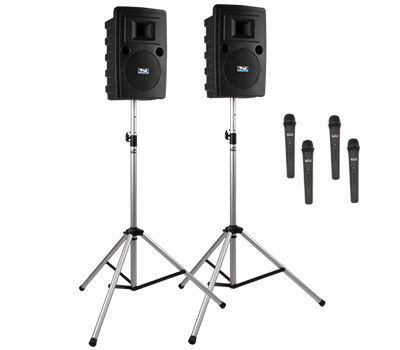 Anchor Audio LIB-DP4-AIR - Liberty DELUXE AIR Package 4 - Liberty Deluxe AIR Package 4 includes LIB2-XU4, LIB2-AIR, 2 SS-550, and choice of 4 wireless handheld mics and/or headband and lapel mics with beltpacks