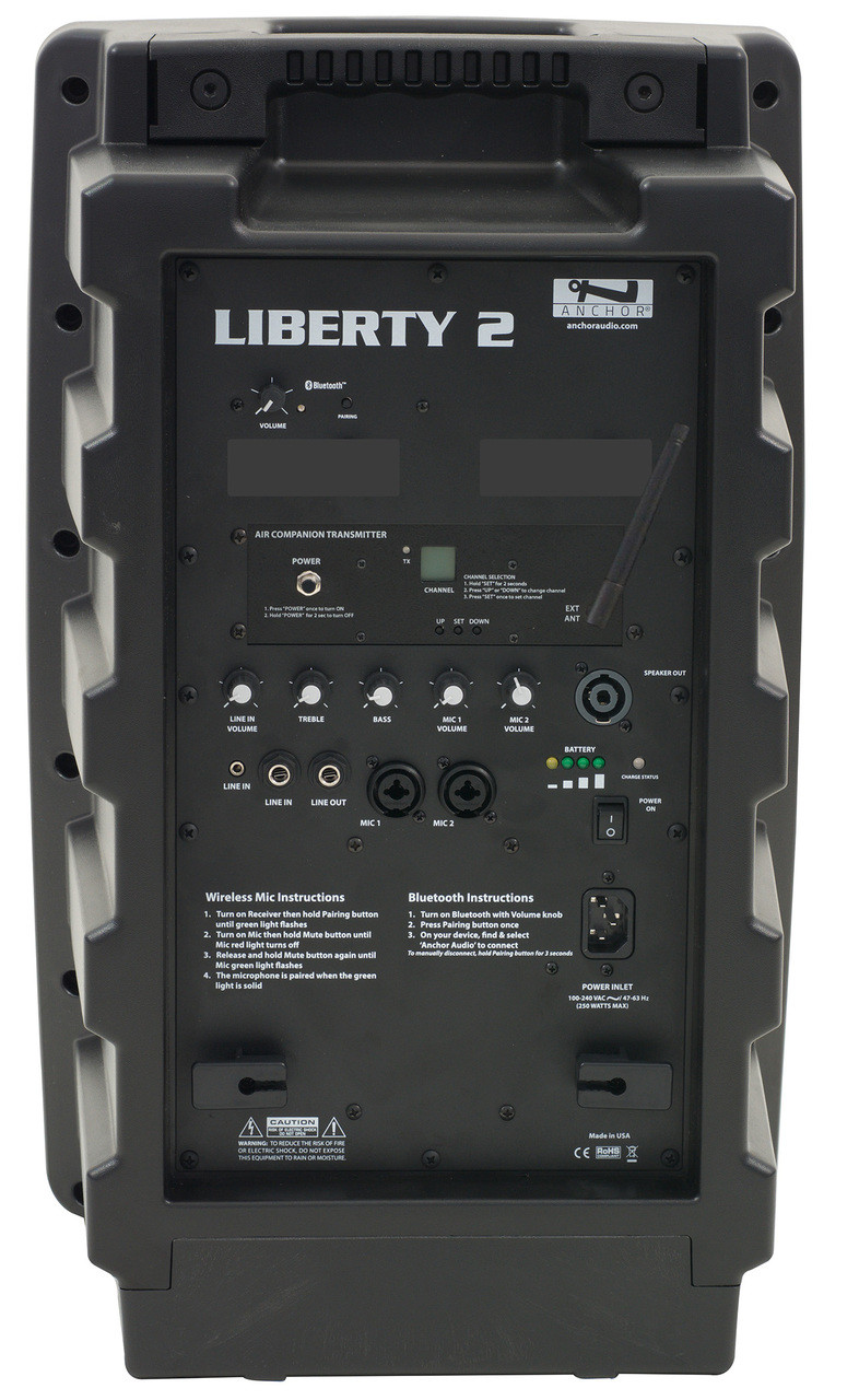 Anchor Audio Liberty LIB2-X Portable Bluetooth Sound System with AIR  wireless transmitter - (base unit only)