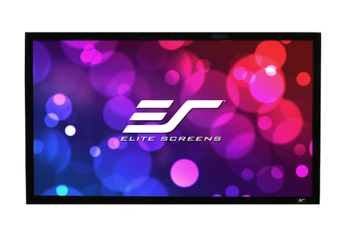 Elite Screens R120WH2 ezFrame 2 Series Fixed Frame Projector Screens.  2 year limited warranty by Elite Screens.