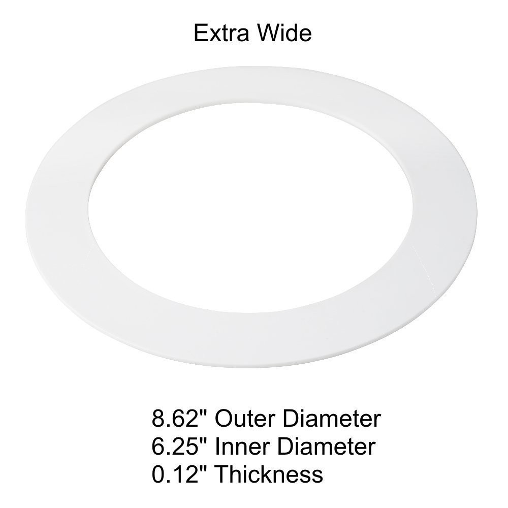 8 inch recessed lighting trim goof ring image oversized white gooftrim ring for 568 inch recessed can down